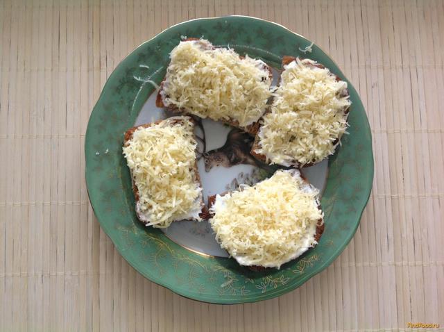 Рецепт Бутерброды с сыром и чесноком рецепт с фото