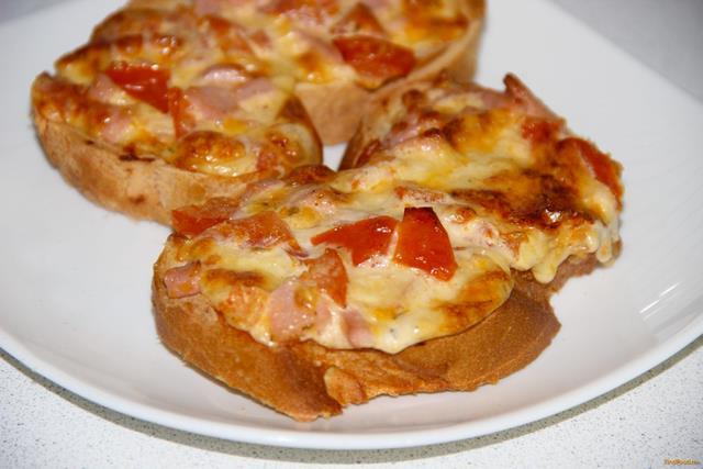 Горячие бутерброды пицца рецепты с фото