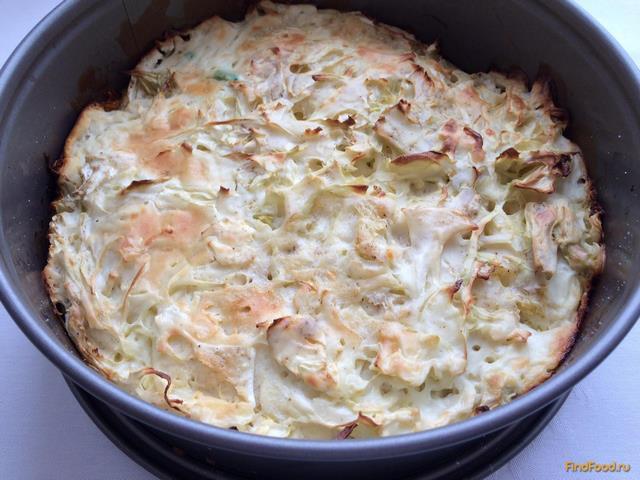 Капустный пирог для ленивых - фото 7 шага
