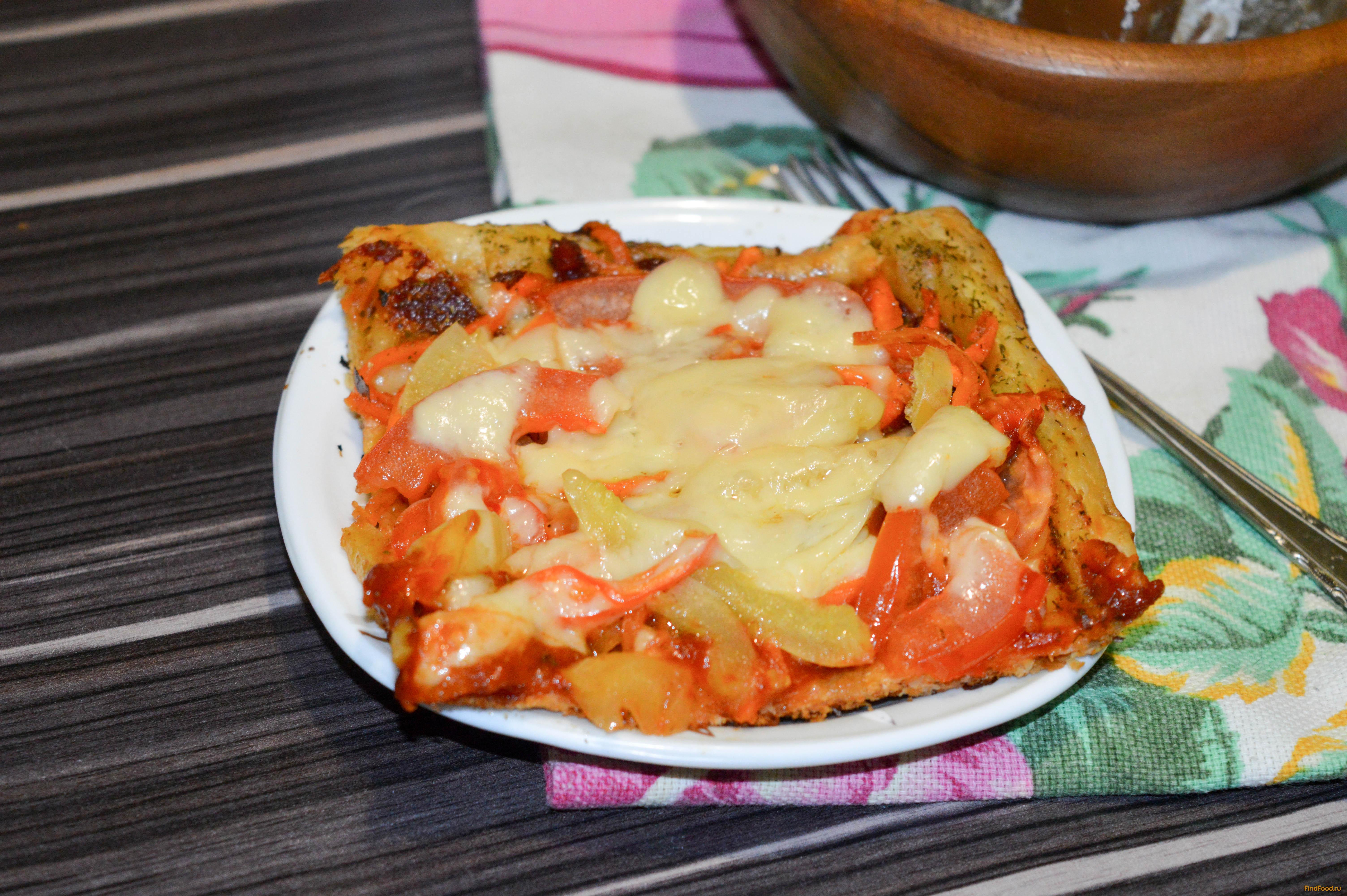 пицца на курином тесте рецепт