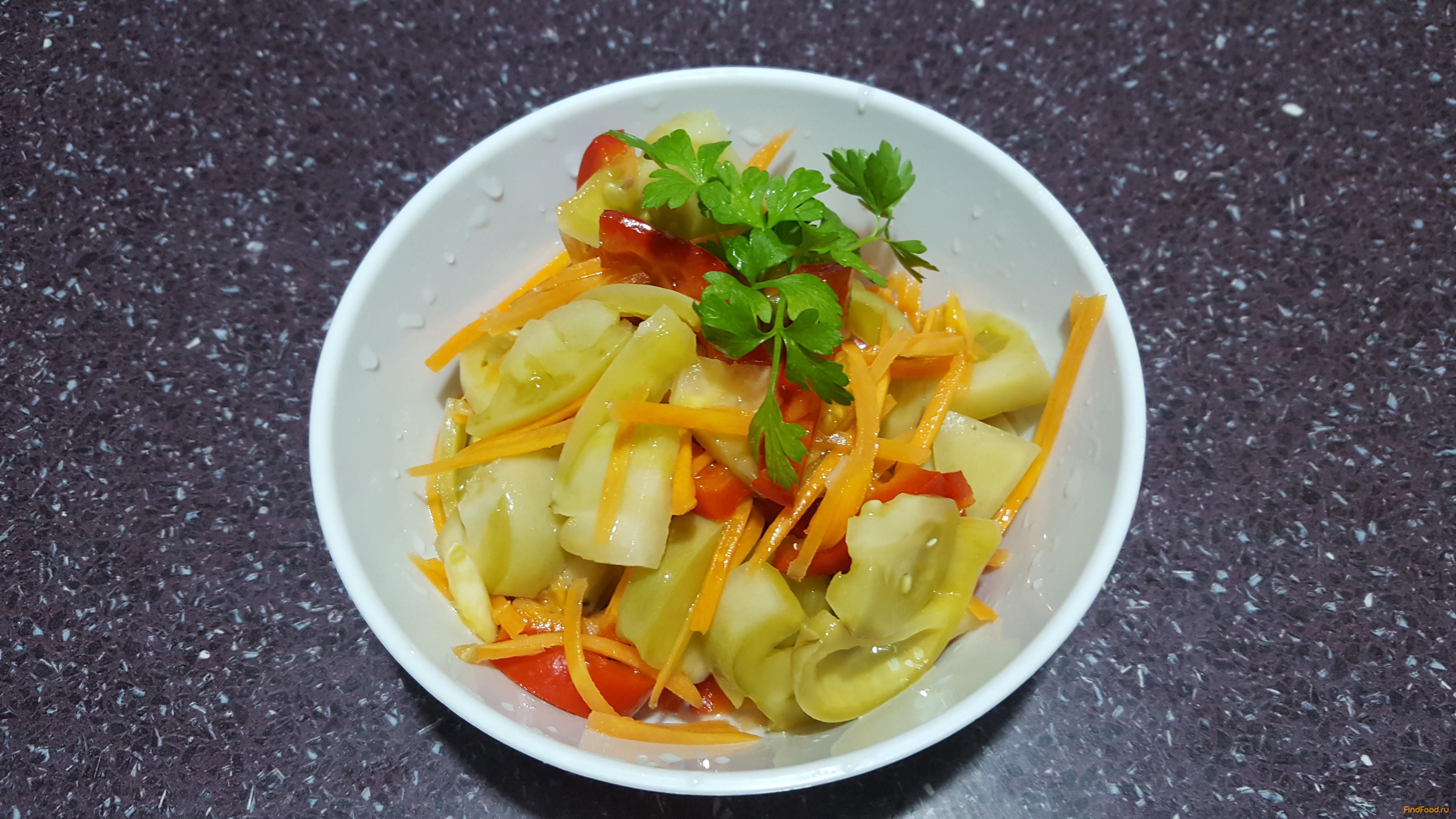 Как приготовить зеленые помидоры салат #10