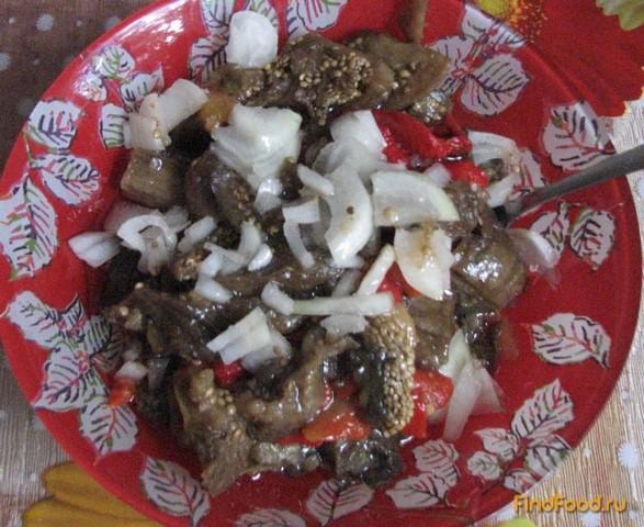 Салат из печеных баклажанов и перца рецепт с фото 7-го шага