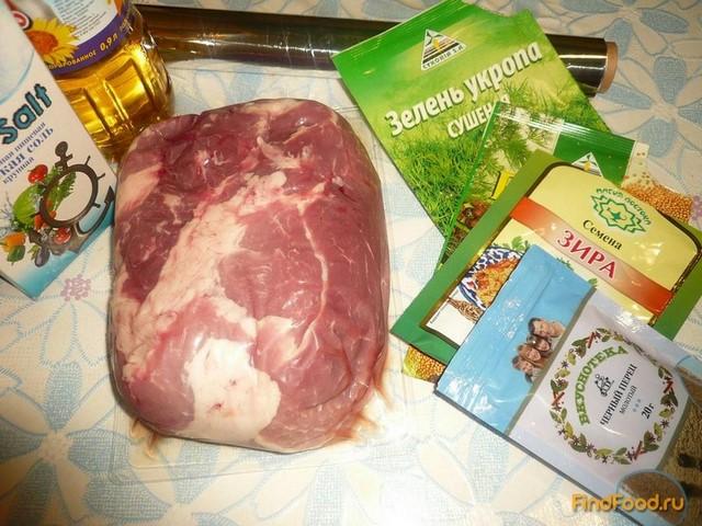 Свиная лопатка запеченная рецепт с фото 1-го шага