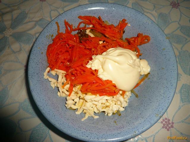 Лаваш с корейской морковью и ветчиной 5 минут
