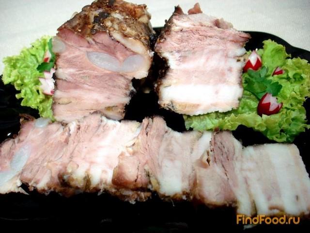 Рецепт Свиная грудинка запеченная в фольге рецепт с фото