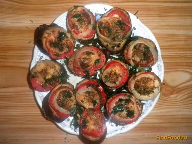 Рецепт Запеченные баклажаны с помидорами и сыром рецепт с фото