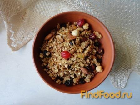 Рецепт Яблочная гранола рецепт с фото