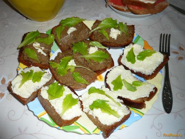 Рецепт Бутерброды с рыбным паштетом и икрой мойвы рецепт с фото