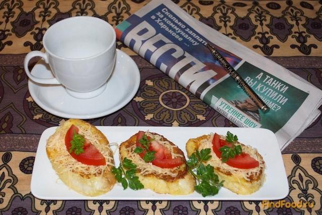 Рецепт Гренки на французский манер с овощами и сыром рецепт с фото