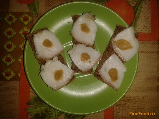 Рецепт Соленое сало с чесноком рецепт с фото