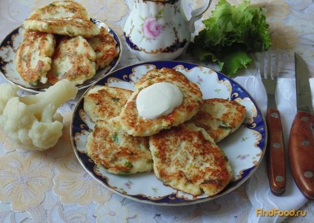 Рецепт Оладьи из цветной капусты рецепт с фото