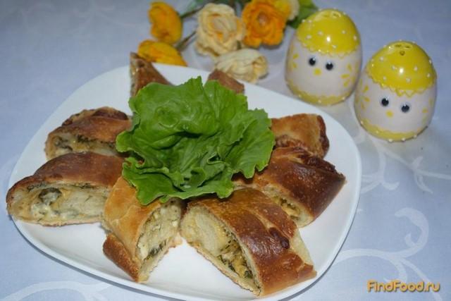 Рецепт Багет с сыром и зеленью рецепт с фото