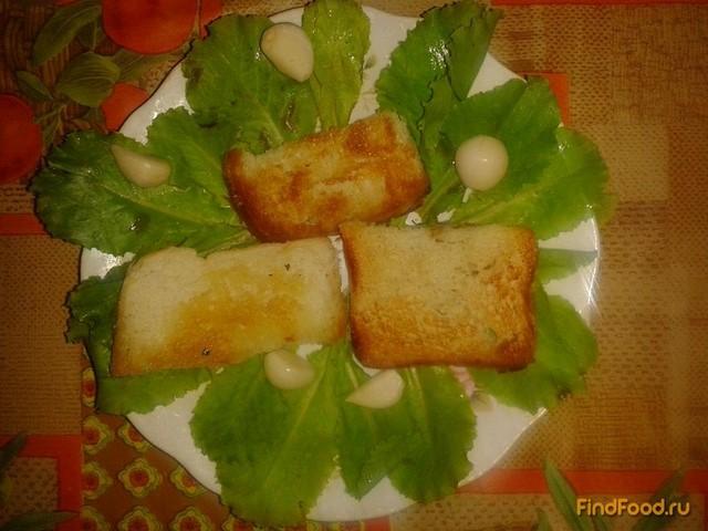 Рецепт Гренки с чесноком рецепт с фото