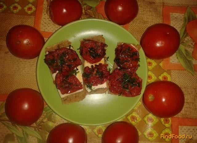 Рецепт Бутерброды с жареными помидорами и сыром рецепт с фото