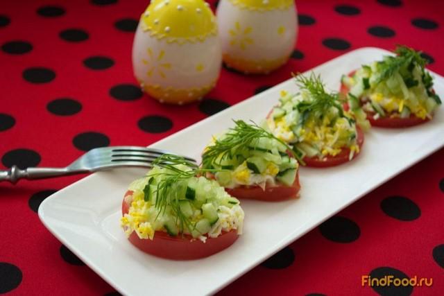 Рецепт Закусочные помидоры с тунцом рецепт с фото