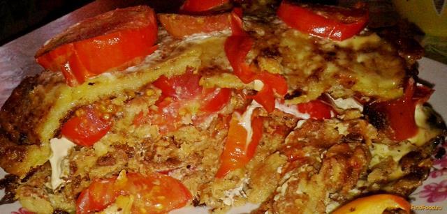 Рецепт Кабачковый торт с овощной начинкой рецепт с фото