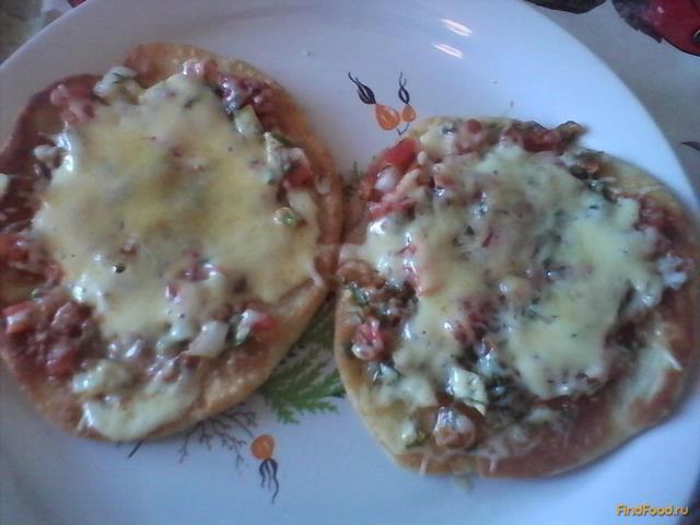 Рецепт Мини пицца в микроволновке рецепт с фото
