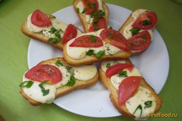 Рецепт Греночки с моцарелой и специями в духовке рецепт с фото