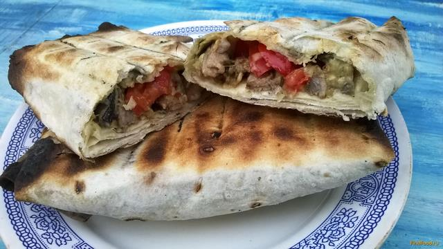 Рецепт Шаурма со свининой и баклажанами рецепт с фото