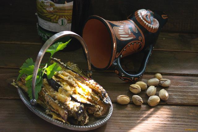 Рецепт Баклажан с сыром под пиво рецепт с фото