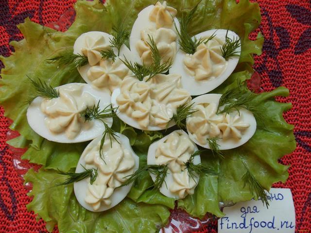 Рецепт Фаршированные яйца с сыром рецепт с фото