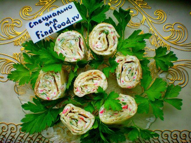 Рецепт Роллы из лаваша рецепт с фото