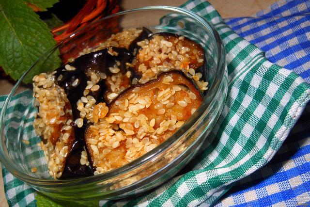 Рецепт Баклажаны с кунжутом рецепт с фото