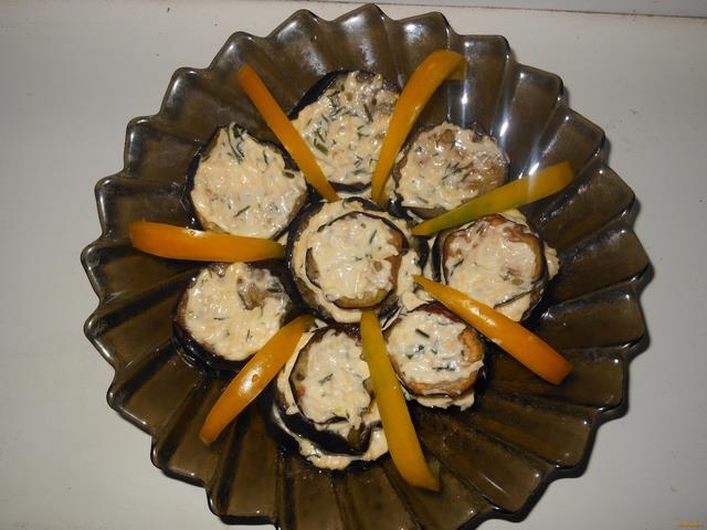 Рецепт Баклажаны с сыром и чесноком рецепт с фото