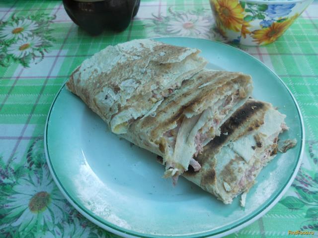 Рецепт Конвертик из лаваша на гриле рецепт с фото