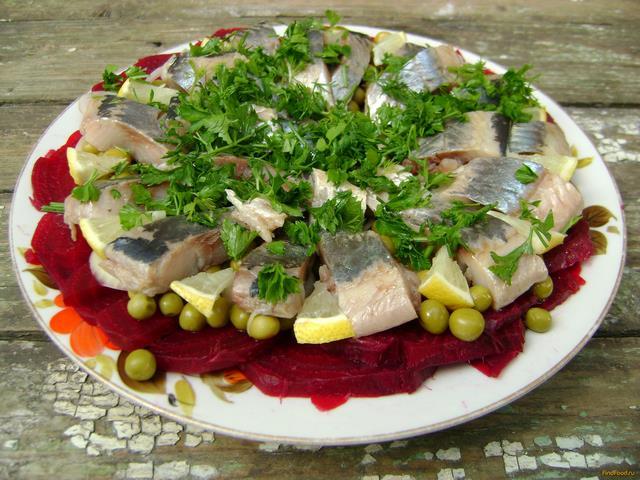 Рецепт Закуска из сельди и овощей рецепт с фото