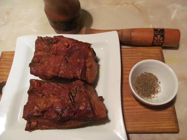 Свиная грудинка в луковой шелухе рецепт с фото 8-го шага