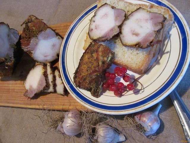 Рецепт Свиная грудинка в луковой шелухе рецепт с фото