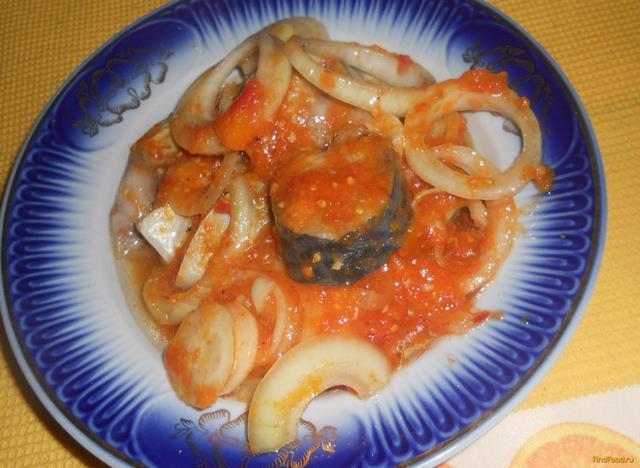 Рецепт Скумбрия в томатном соусе рецепт с фото