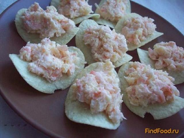 Креветки на чипсах рецепт с фото 3-го шага