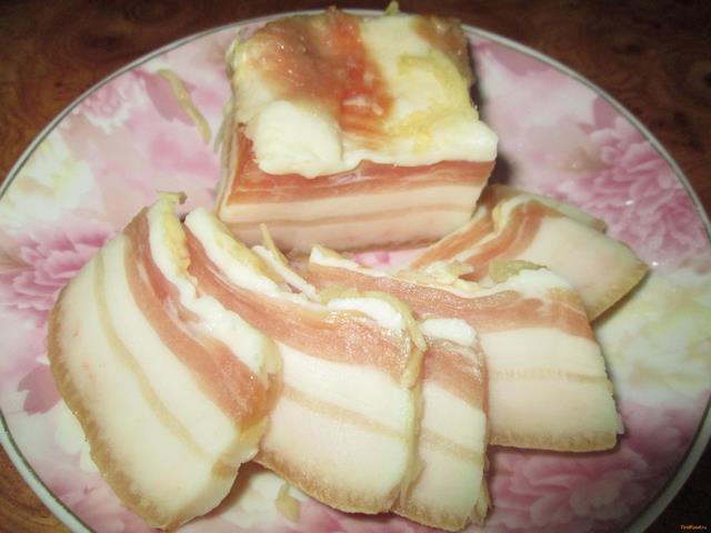 Рецепт Домашнее сало с чесночком рецепт с фото