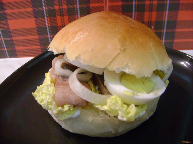 Рецепт Домашний гамбургер с селедкой рецепт с фото