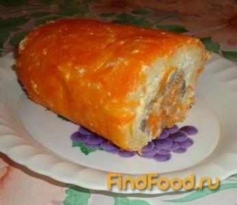 Рецепт Овощной рулет с печенью рецепт с фото
