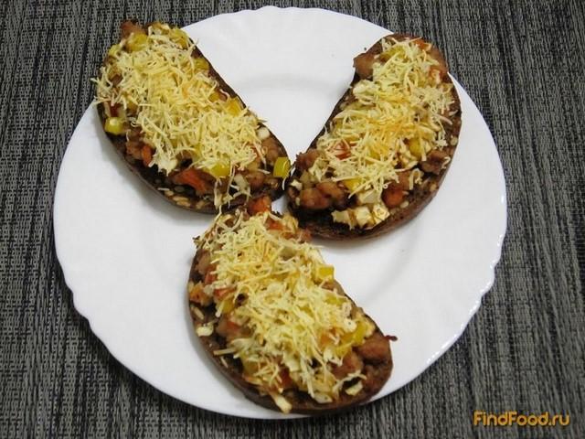 Рецепт Горячие фитнес-бутерброды с фаршем рецепт с фото