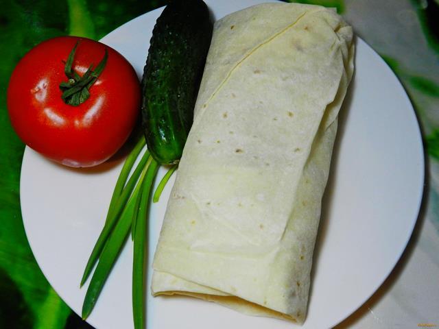 Рецепт Домашняя шаурма с колбасой рецепт с фото
